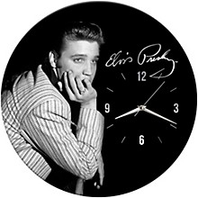 "Vandor Elvis Presley 13.5"" Wood Wall Clock"