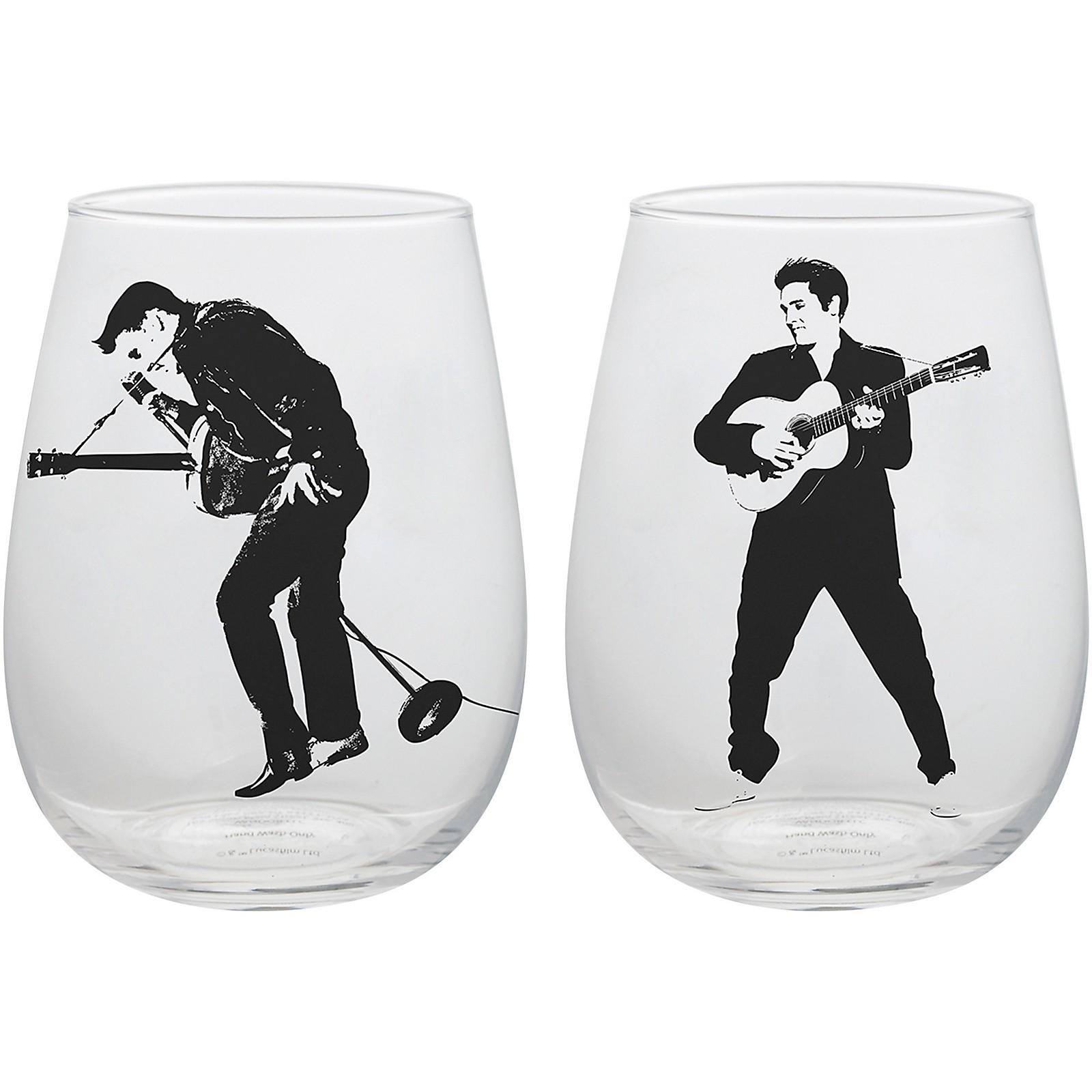 Vandor Elvis Presley 2 pc. 18 oz. Contour Glass Tumblers
