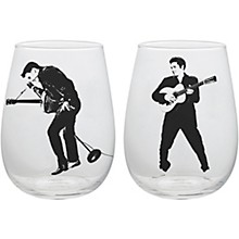 Vandor Elvis Presley 2 pc. 18 oz. Contour Glass Tumblers