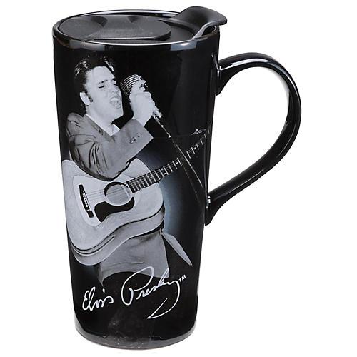 Vandor Elvis Presley 20 oz. Ceramic Travel Mug