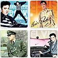 Vandor Elvis Presley 4 pc. Ceramic Coaster Set thumbnail