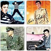 Vandor Elvis Presley 4 pc. Ceramic Coaster Set