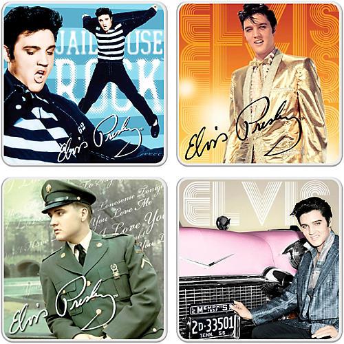 Vandor Elvis Presley 4 pc. Ceramic Coaster Set