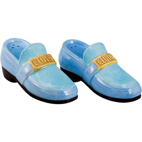 Vandor Elvis Presley Blue Suede Shoes Ceramic Salt & Pepper Set