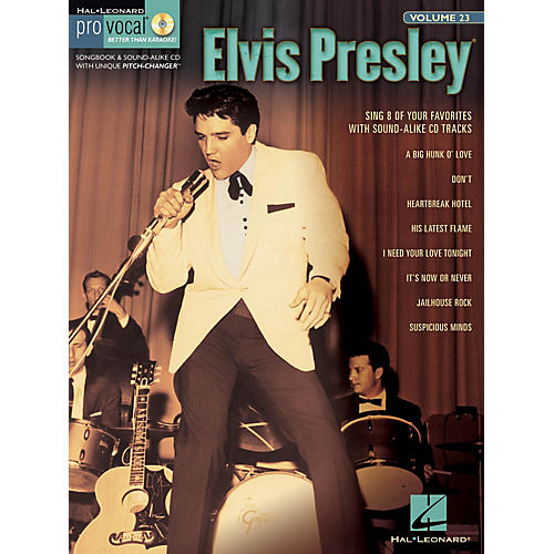 Hal Leonard Elvis Presley (Pro Vocal Men's Edition Volume 23) Pro Vocal Series Softcover with CD