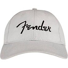 Fender Embroidered Logo Dad Hat, Grey