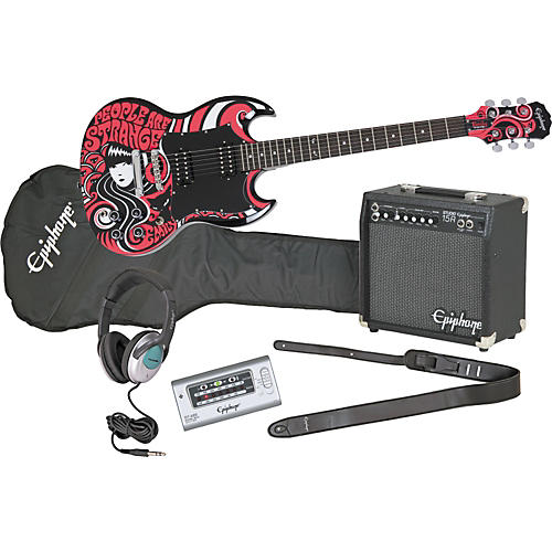 epiphone emily the strange sg electric guitar and all access amp pack musician 39 s friend. Black Bedroom Furniture Sets. Home Design Ideas