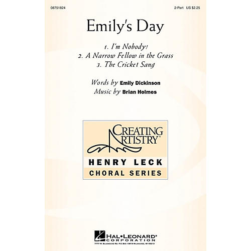 Hal Leonard Emily's Day (Choral Collection) 2-Part composed by Brian Holmes