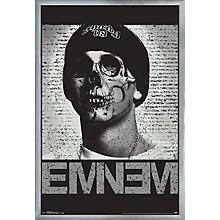 Eminem - Skull Poster Framed Silver