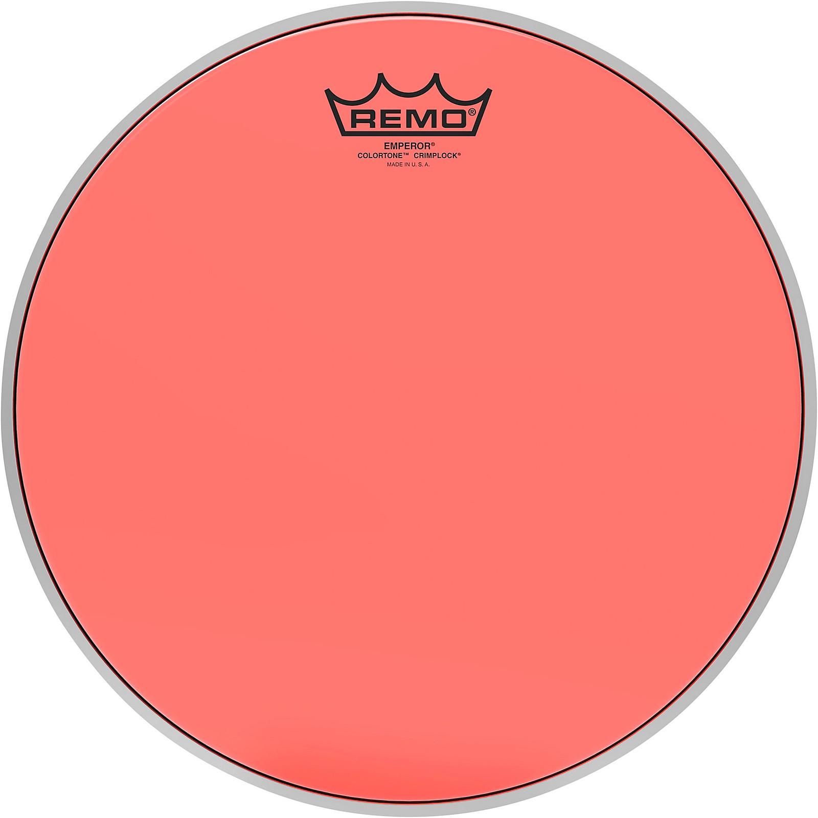 Remo Emperor Colortone Crimplock Red Tenor Drum Head