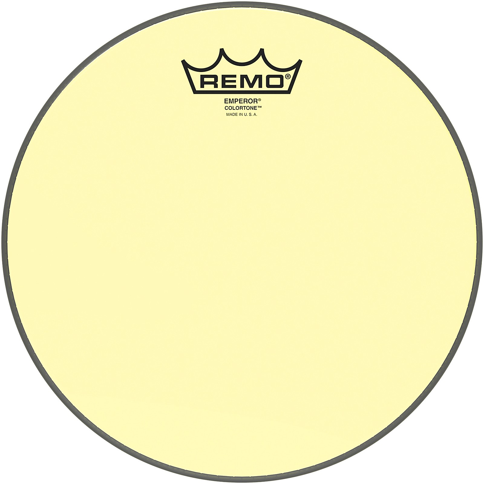 Remo Emperor Colortone Yellow Drum Head