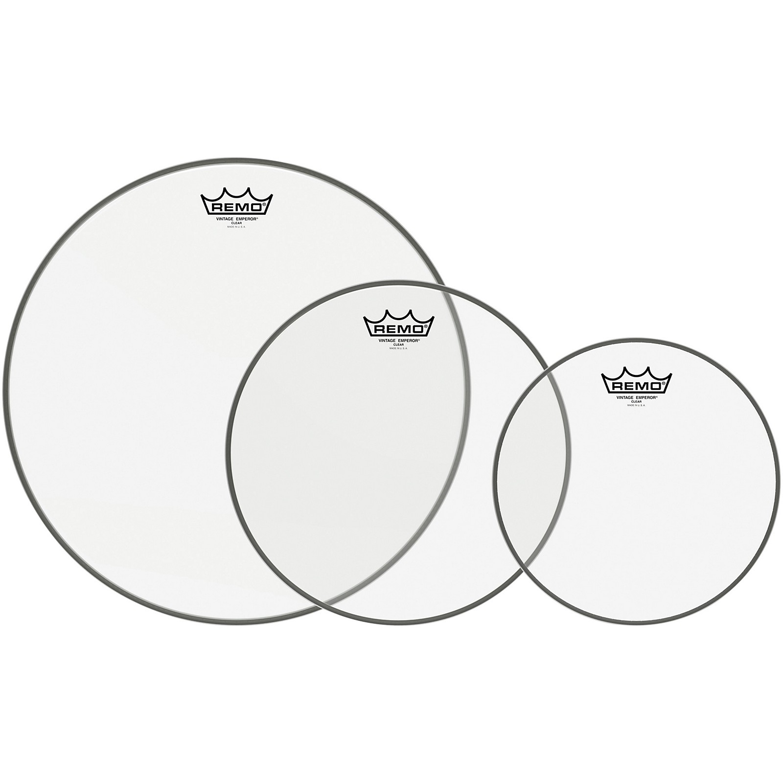 Remo Emperor Vintage Clear Drumhead Pack