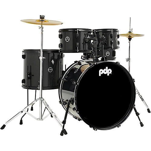 PDP by DW Encore 5-Piece Kit With Black Kit Hardware and Cymbals Black Onyx