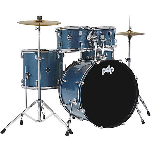 Encore Complete 5-Piece Drum Set With Chrome Hardware and Cymbals