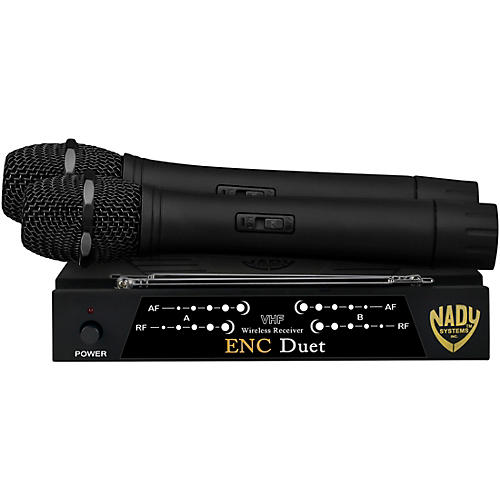 Nady ENC Duet Wireless Handheld Microphone System Condition 1 - Mint Band B and D
