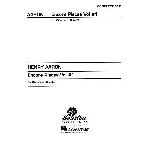 Hal Leonard Encore Pieces for Woodwind Quintet - Volume 1 (Complete Set) Houston Publishing Series