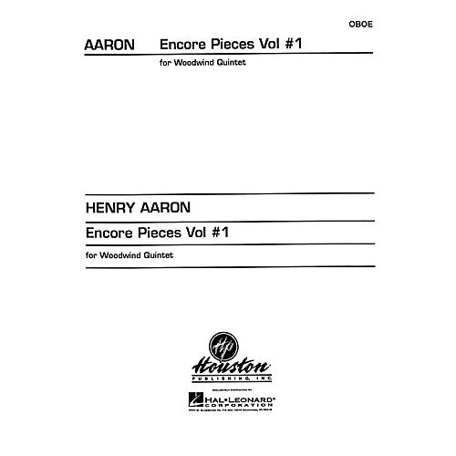 Houston Publishing Encore Pieces for Woodwind Quintet, Vol. 1 (Oboe) Houston Publishing Series Arranged by Henry Aaron