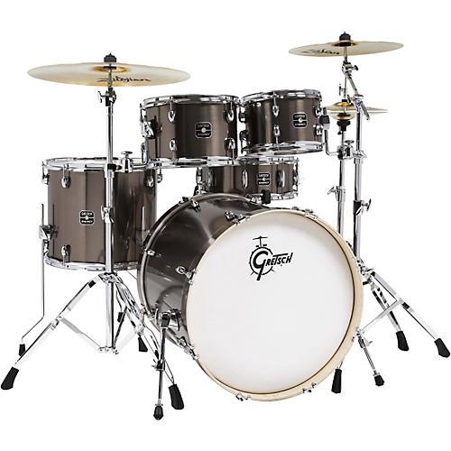 Gretsch Drums Energy 5-Piece Drum Set With Hardware and Zildjian Cymbals Grey Steel