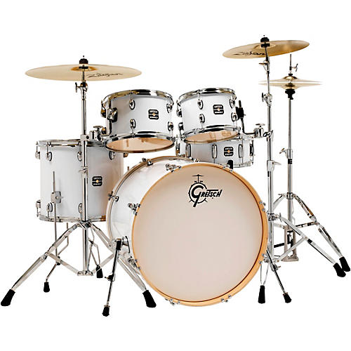 Gretsch Drums Energy 5-Piece Drum Set With Hardware and Zildjian Cymbals White