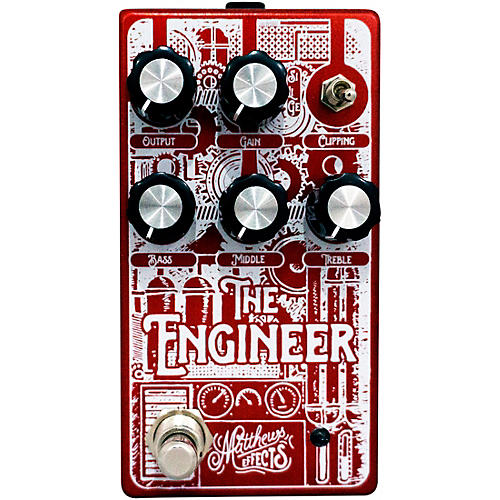 Engineer Foundational Bass Overdrive Effects Pedal