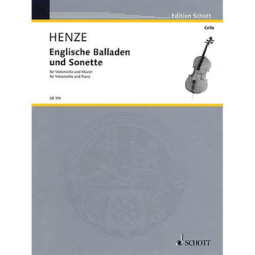 Schott Englische Balladen und Sonette (1984/85; 2003) (Violoncello and Piano) Schott Series