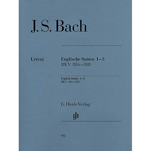 G. Henle Verlag English Suites 1-3 BWV 806-808 Henle Music Folios Series Softcover