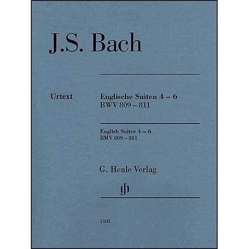 G. Henle Verlag English Suites 4-6 BWV 809-811 By Bach