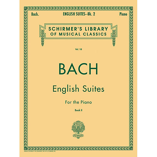 G. Schirmer English Suites for Piano Book 2 By Bach