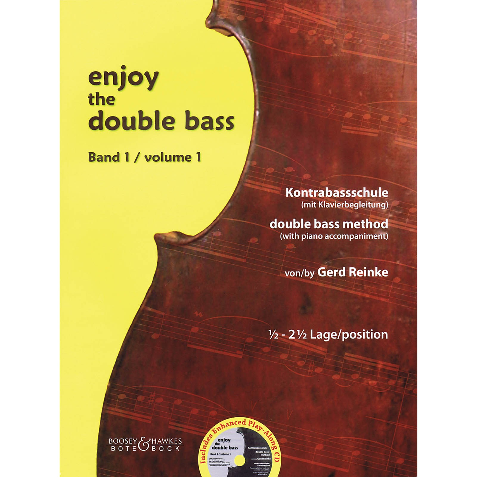 Bote & Bock Enjoy the Double Bass Series Softcover with CD Written by Gerd Reinke
