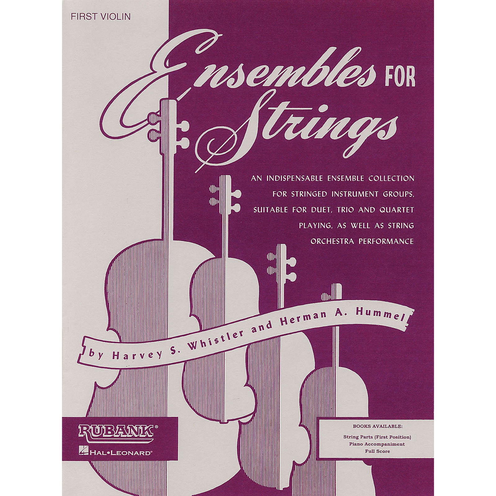 Rubank Publications Ensembles For Strings - Cello Ensemble Collection Series Arranged by Harvey S. Whistler