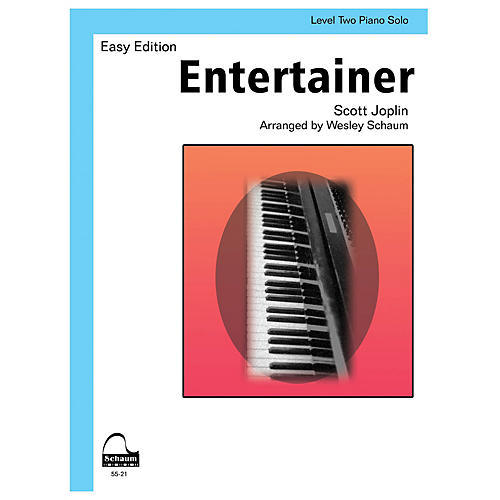 SCHAUM Entertainer (Schaum Level Two Piano Solo) Educational Piano Book by Scott Joplin