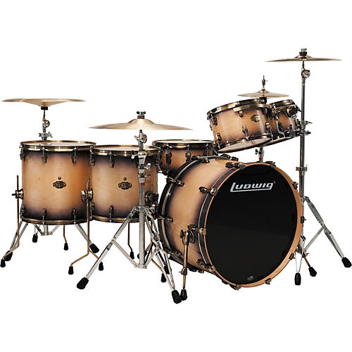 Ludwig Epic 6-Piece Pro Beat Shell Pack with Vintage Bronze Rims & Lugs