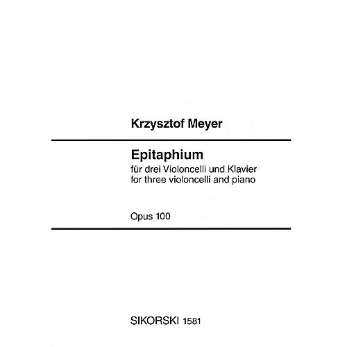Sikorski Epitaphium, Op. 100 (2004) (Score and Parts) Ensemble Series Composed by Krzysztof Meyer