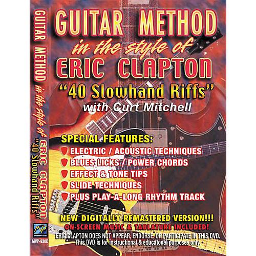MVP Eric Clapton 40 Slowhand Riffs (DVD)