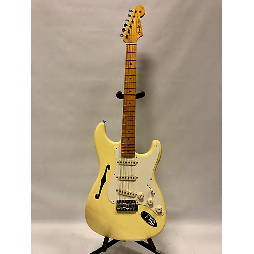 Fender Eric Johnson Thinline Stratocaster Hollow Body Electric Guitar Cream