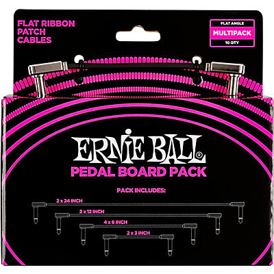 Ernie Ball Ernie Ball Flat Ribbon Patch Cables Pedalboard Multi-Pack
