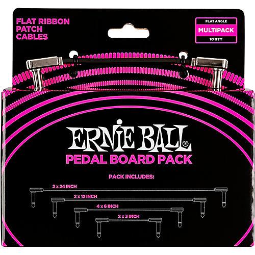 Ernie Ball Ernie Ball Flat Ribbon Patch Cables Pedalboard Multi-Pack Black