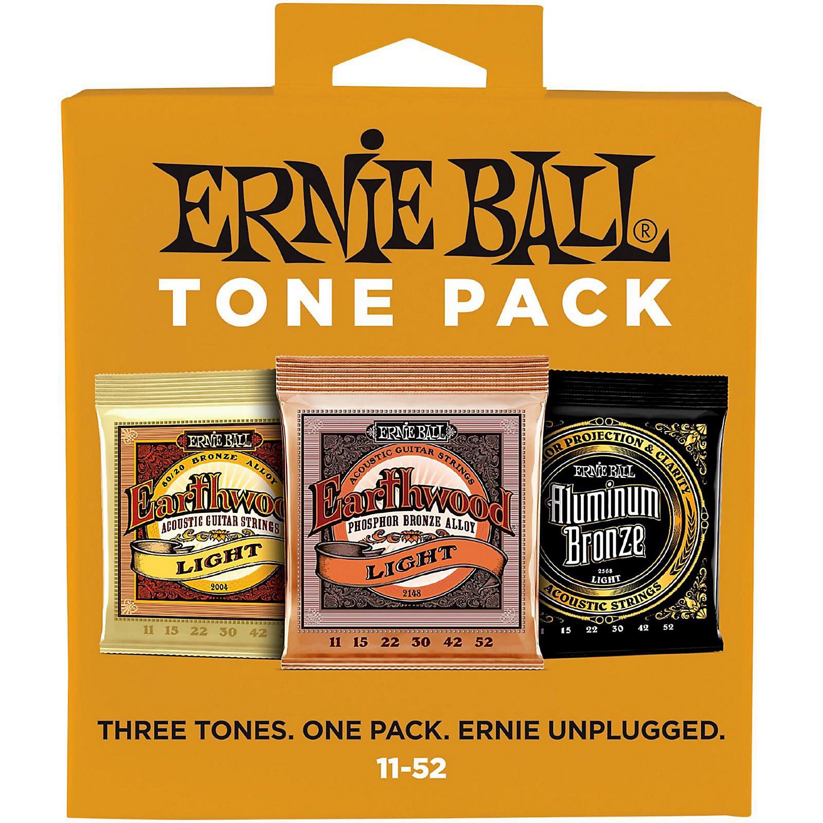Ernie Ball Ernie Ball Light Acoustic Guitar String Tone Pack