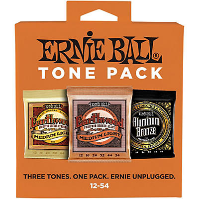 Ernie Ball Ernie Ball Medium Light Acoustic Guitar String Tone Pack
