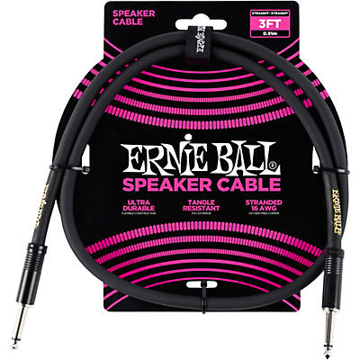 Ernie Ball Ernie Ball Speaker Cable Black Straight/Straight