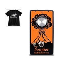 EarthQuaker Devices Erupter Fuzz Effects Pedal and Octoskull T-Shirt Large Black
