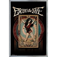 Escape The Fate - Hate Me Poster Framed Silver