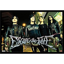 Escape The Fate - Red Light Poster Framed Black