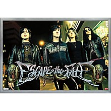 Escape The Fate - Red Light Poster Framed Silver