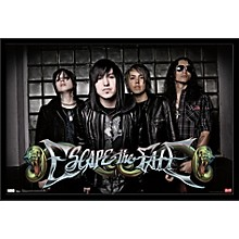 Escape The Fate Poster Framed Black