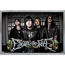 Escape The Fate Poster Framed Silver