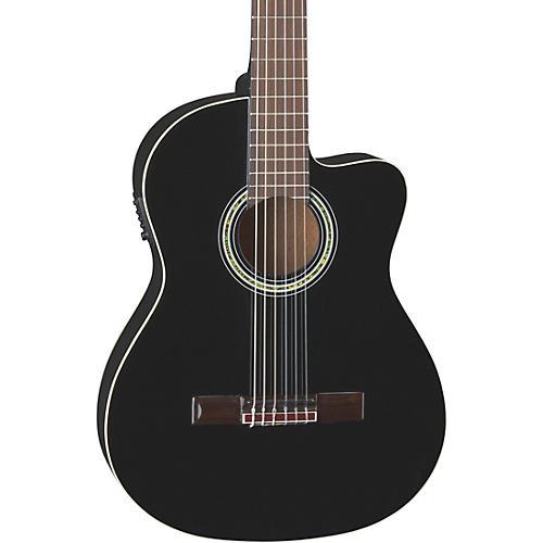 Dean Espana Full Size Acoustic-Electric Cutaway Classical Guitar Classic Black