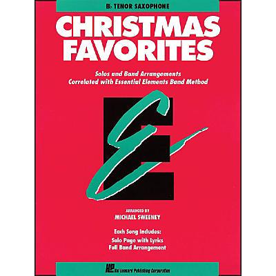 Hal Leonard Essential Elements Christmas Favorites B Flat Tenor Saxophone