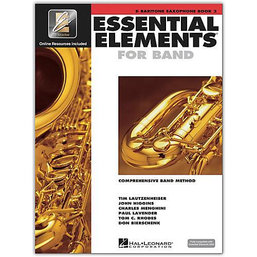 Hal Leonard Essential Elements for Band - Eb Bariton Saxophone 2 Book/Online Audio
