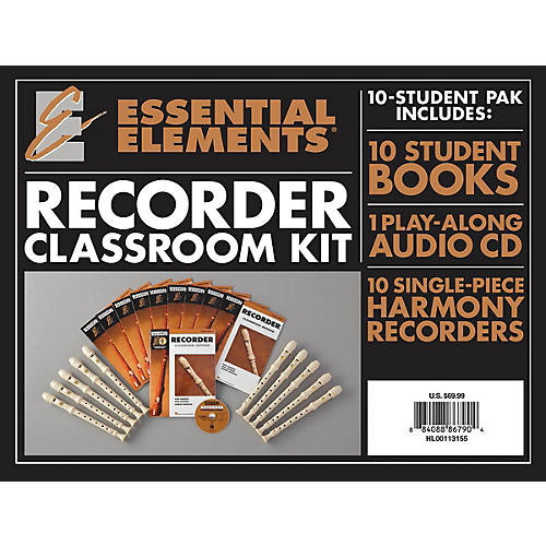 Hal Leonard Essential Elements for Recorder Classroom Kit Essential Elements Recorder Series Written by Various
